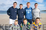 BEACH BOYS: Enjoying the Ballinskelligs Regatta on Sunday. Front l-r: Sean.O'Donoghue, Damien Murphy and Paul Lynch. Back l-r: Ciaran Keating, Paul O'Sullivan,.Darren O'Sullivan and Brian Murphy.