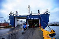 Bluebridge Ferry in Wellington, New Zealand on Monday, 20 January 2020. Photo: Dave Lintott / lintottphoto.co.nz