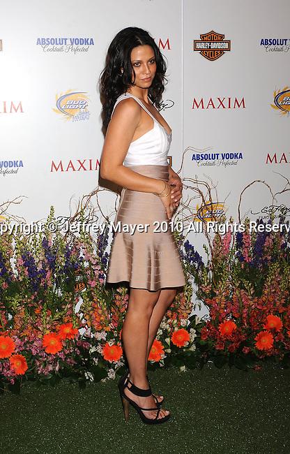 LOS ANGELES, CA. - May 19: Navi Rawat arrives at the 11th Annual MAXIM HOT 100 Party at Paramount Studios on May 19, 2010 in Los Angeles, California.