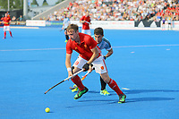 David Goodfield of England  in action during the Hockey World League Semi-Final match between England and Argentina at the Olympic Park, London, England on 18 June 2017. Photo by Steve McCarthy.