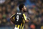 Nederland, Arnhem, 16 december  2012.Eredivisie.Seizoen 2012/2013.Vitesse-RKC.Wilfried Bony van Vitesse juicht na het scoren van de 1-0 en juicht