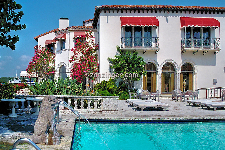 Vanderbilt Mansion, Fisher Island, Florida, Mediterranean-style mansion, Florida's Most Exclusive Private Island ., South Florida