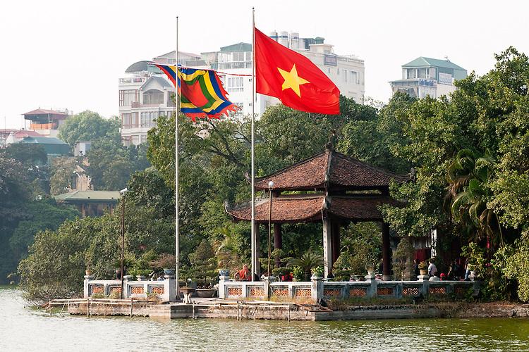 Ngoc Son Temple  01 - Ngoc Son Temple on an island in Hoan Kiem Lake, Hanoi, Vietnam