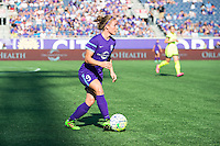Orlando, Florida - Sunday, May 8, 2016: Orlando Pride forward Josee Belanger (9) during a National Women's Soccer League match between Orlando Pride and Seattle Reign FC at Camping World Stadium.