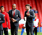 Leon Clarke of Sheffield Utd\ talks with Ben Whiteman of Sheffield Utd  suduring the League One match at Bramall Lane Stadium, Sheffield. Picture date: September 17th, 2016. Pic Simon Bellis/Sportimage