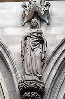 Lichfield Cathedral interior (North) probably Saint Mary Magdalene due to her signature alabaster jar of ointment