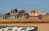 Apr 16, 2011; Surprise, AZ USA; LOORRS driver Richard Cassey (29) leads Jimmy Stephensen (33) during round 3 at Speedworld Off Road Park. Mandatory Credit: Mark J. Rebilas-.