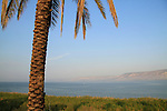 Israel, A view of the Sea of Galilee fromTel Beth Yerah