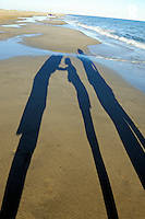 Shadow of family on beach  (Licence this image exclusively with Getty: http://www.gettyimages.com/detail/107086109 )