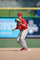 Philadelphia Phillies shortstop Bryson Stott (10) during an Instructional League game against the Toronto Blue Jays on September 17, 2019 at Spectrum Field in Clearwater, Florida.  (Mike Janes/Four Seam Images)