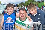 ENJOYING: Liam, Kevin and Mike Cronin enjoy Fleadh Cheoil Chiarrai in Milltown last Sunday. .