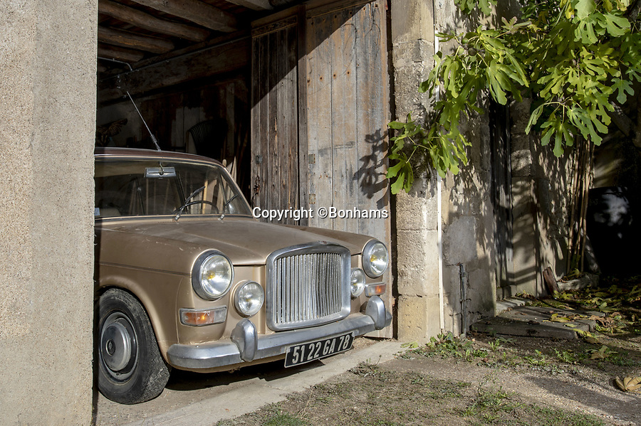 BNPS.co.uk (01202 558833)<br /> Pic:  Bonhams/BNPS<br /> <br /> SHE may be a tired old Morris - but this humble British motor actually belonged to legendary French crooner Charles Aznavor<br /> <br /> The 1966 Princess Vanden Plas 1100 was owned from new by the famous entertainer, dubbed 'the Gallic Frank Sinatra'. <br /> <br /> Despite selling over 180 million records worldwide the humble singer was happy to drive around in the less than glamorous saloon for many years before retiring it to a garage 15 years ago.<br /> <br /> Since then it has not been registered for road use and has remained gathering dust at the late singer's sister's chateau.