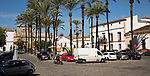 Plaza del Mercado, Barrio de Santiago, Iglesia de San Mateo, Jerez de la Frontera, Spain