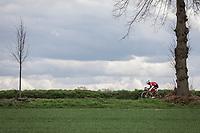 Tsgabu Grmay (ETH/Trek Segafredo) leading the break away group. <br /> <br /> 53th Amstel Gold Race (1.UWT)<br /> 1 Day Race: Maastricht > Berg en Terblijt (263km)