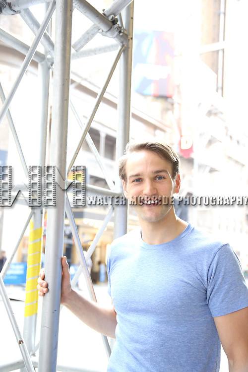 Drew Moerlein, starring in 'American Psycho, photo shoot at the Schoenfeld Theatre on May 19, 2016 in New York City.