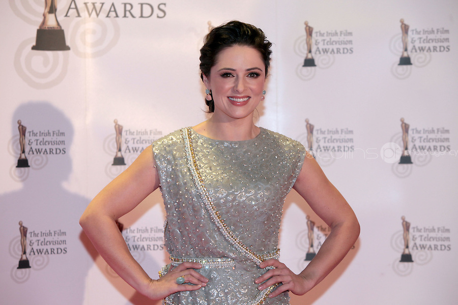 12/2/11 Grainne Seoige on the red carpet at the 8th Irish Film and Television Awards at the Convention centre in Dublin. Picture:Arthur Carron/Collins