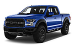 2018 Ford F-150 Raptor Select Doors Door Pick Up angular front stock photos of front three quarter view
