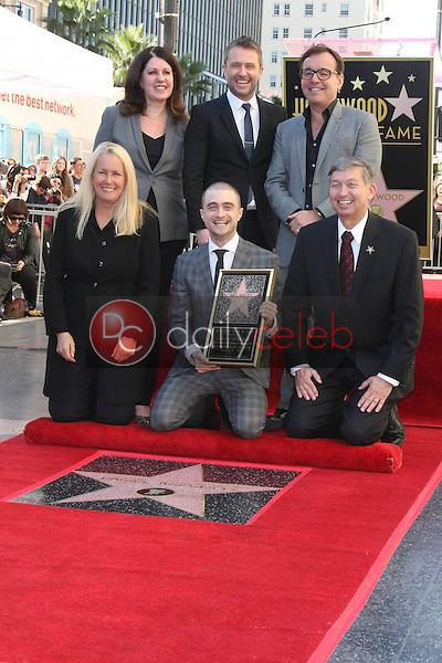 Chris Hardwick, Chris Columbus, Daniel Radcliffe<br /> at the Daniel Radcliffe Star On The Hollywood Walk Of Fame ceremony, Hollywood, CA 11-12-15<br /> David Edwards/DailyCeleb.Com 818-249-4998