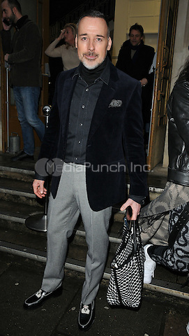David Furnish at the Vivienne Westwood LFW (Men's) a/w 2017 catwalk show, Seymour Leisure Centre, Seymour Place, London, England, UK, on Monday 09 January 2017. <br /> CAP/CAN<br /> &copy;CAN/Capital Pictures /MediaPunch ***NORTH AND SOUTH AMERICAS ONLY***