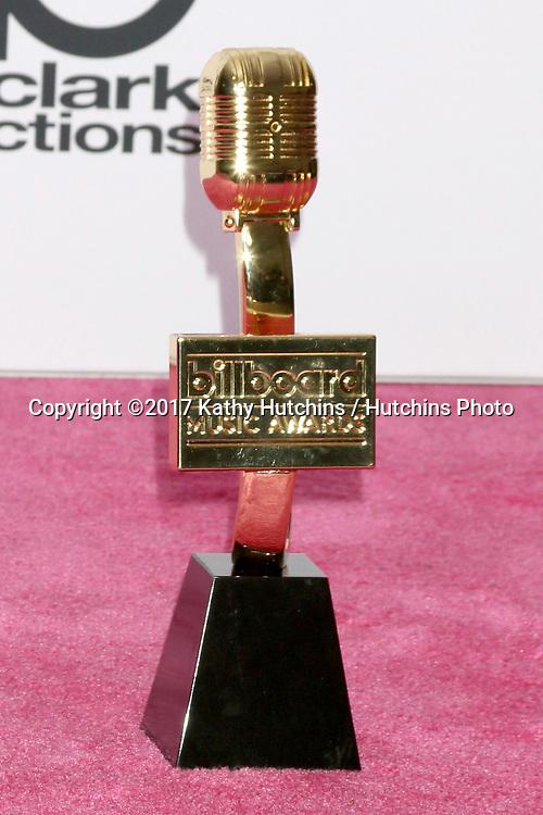 LAS VEGAS - MAY 21:  Billboard Award at the 2017 Billboard Awards Press Room at the T-Mobile Arena on May 21, 2017 in Las Vegas, NV