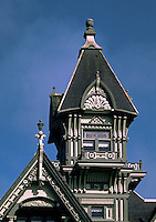 Detail of THE CARSON MANSION, the crown jewel of OLD TOWN EUREKA which is now used as a private club