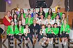 All Ireland Winners: The Johnny Cronin School of Dancers celebrating their success at the Irish Open Dance Competition held in Ashbourne, Co. Meath recently at The Swankey Bar, Tarbert on Saturday night last. The group will compete in the world championships in Dusseldorf at Easter 2014.