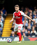 Arsenal's Shkodran Mustafi in action during the premier league match at Stamford Bridge Stadium, London. Picture date 17th September 2017. Picture credit should read: David Klein/Sportimage