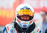 Feb 23, 2018; Chandler, AZ, USA; NHRA funny car driver John Force during qualifying for the Arizona Nationals at Wild Horse Pass Motorsports Park. Mandatory Credit: Mark J. Rebilas-USA TODAY Sports