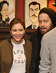 Katharine McPhee, Ben Thompson attend the Sardi's Portrait unveiling for Sara Bareilles  at Sardi's Restaurant on April 3, 2018 in New York City.