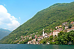 The town of Nesso on Lake Como, Italy that is located between Como and Bellagio