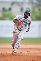 Daytona Tortugas right fielder Daniel Sweet (10) runs the bases during a game against the Florida Fire Frogs on April 7, 2018 at Osceola County Stadium in Kissimmee, Florida.  Daytona defeated Florida 4-3 in a six inning rain shortened game.  (Mike Janes/Four Seam Images)