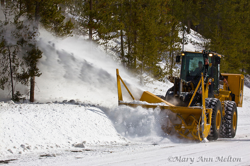 Colorado, winter, Rocky Mountain National Park, West, snowblower