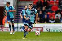 Scorer of two goals, Matthew Bloomfield of Wycombe Wanderers, during the Sky Bet League 2 match between Doncaster Rovers and Wycombe Wanderers at the Keepmoat Stadium, Doncaster, England on 29 October 2016. Photo by David Horn.