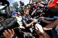 MELBORUNE, AUSTRALIA, 13.03.2014 - F1 - GP DA AUSTRALIA - PREPARATIVOS -  <br /> Sebastian Vettel (GER, Infiniti Red Bull Racing)e visto dois dias antes do GP da Austr&aacute;lia de F&oacute;rmula 1, no circuito Albert Park, em Melbourne, Austr&aacute;lia, nesta quinta-feira, 13. (Foto: Pixathlon / Brazil Photo Press).