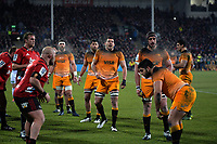 A lineout forms during the 2019 Super Rugby final between the Crusaders and Jaguares at Orangetheory Stadium in Christchurch, New Zealand on Saturday, 6 July 2019. Photo: Dave Lintott / lintottphoto.co.nz