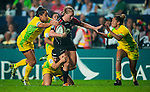 Australia and Canada play in the Women's Rugby Sevens Cup Final on Day 1 of the Cathay Pacific / HSBC Hong Kong Sevens 2013 at Hong Kong Stadium, Hong Kong. Photo by Victor Fraile / The Power of Sport Images
