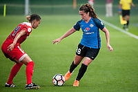 Kansas City, MO - Saturday May 27, 2017: Estelle Johnson, Alexa Newfield during a regular season National Women's Soccer League (NWSL) match between FC Kansas City and the Washington Spirit at Children's Mercy Victory Field.