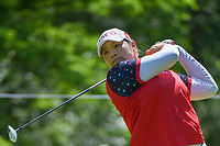 Ariya Jutanugarn (THA) watches her tee shot on 14 during round 2 of the 2018 KPMG Women's PGA Championship, Kemper Lakes Golf Club, at Kildeer, Illinois, USA. 6/29/2018.<br /> Picture: Golffile | Ken Murray<br /> <br /> All photo usage must carry mandatory copyright credit (&copy; Golffile | Ken Murray)