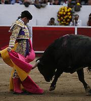 El futbolista mexicano Rafael Marquez acudio a ver al Torero Julián López Escobar, El Juli, en la plaza de Toros de Lon Guanajuato, 2 febrero 2014