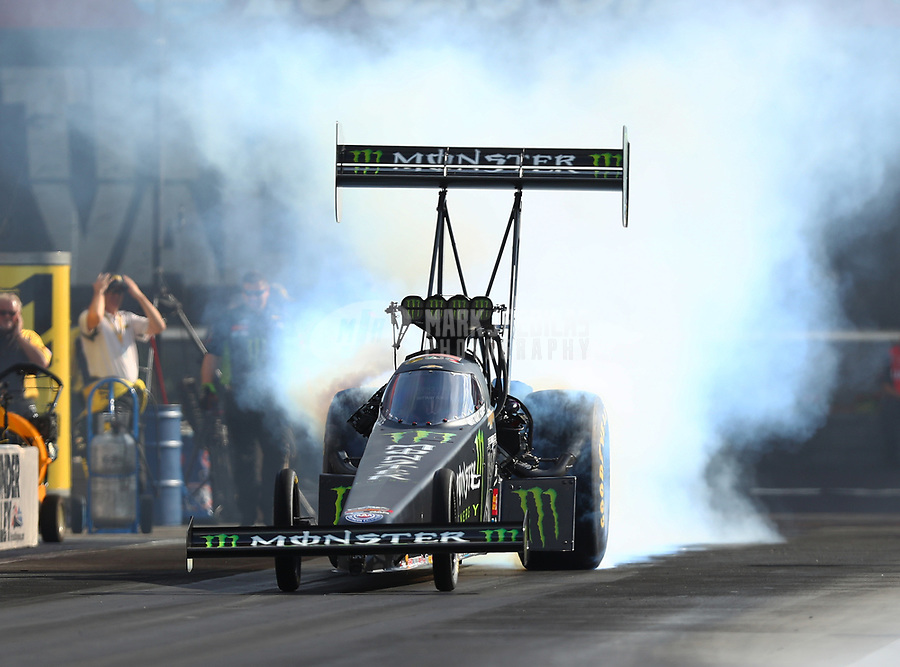 Jun 16, 2017; Bristol, TN, USA; NHRA top fuel driver Brittany Force during qualifying for the Thunder Valley Nationals at Bristol Dragway. Mandatory Credit: Mark J. Rebilas-USA TODAY Sports