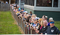 LOUISVILLE, KY - MAY 03: The crowd gathers to watch and take photos of morning workouts in preparation for the Kentucky Oaks and Derby at Churchill Downs on May 3, 2018 in Louisville, Kentucky. (Photo by Scott Serio/Eclipse Sportswire/Getty Images)
