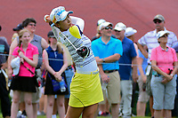 Chella Choi (KOR) watches her tee shot on 10 during Friday's round 2 of the 2017 KPMG Women's PGA Championship, at Olympia Fields Country Club, Olympia Fields, Illinois. 6/30/2017.<br /> Picture: Golffile | Ken Murray<br /> <br /> <br /> All photo usage must carry mandatory copyright credit (&copy; Golffile | Ken Murray)
