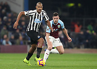 Newcastle United's Jose Salomon Rondon and Burnley's Kevin Long<br /> <br /> Photographer Rachel Holborn/CameraSport<br /> <br /> The Premier League - Burnley v Newcastle United - Monday 26th November 2018 - Turf Moor - Burnley<br /> <br /> World Copyright &copy; 2018 CameraSport. All rights reserved. 43 Linden Ave. Countesthorpe. Leicester. England. LE8 5PG - Tel: +44 (0) 116 277 4147 - admin@camerasport.com - www.camerasport.com