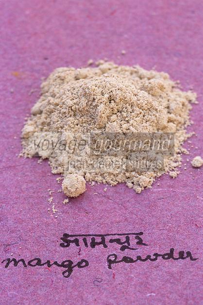 Asie/Inde/Maharashtra/Bombay : Les épices dans la cuisine indienne - Poudre de mangue