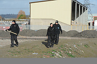 Pictured: Police search teams search wasteground near industrial units between the River Usk and Corporation Road in Newport. STOCK PICTURE<br /> Re: The family of missing Newport teenager Nida Naseer have been told that police have found a body.<br /> Nida, 19, went missing two-and-a-half months ago after putting the bins out at her home.<br /> Gwent Police said they were called to Newport Wetlands at West Nash Road on Thursday morning where a body had been discovered.<br /> The body has yet to be identified and the death is being treated as unexplained.<br /> Police said a post-mortem examination was to take place.<br /> The teenager disappeared from her home in Pill at about 8pm on 28 December.