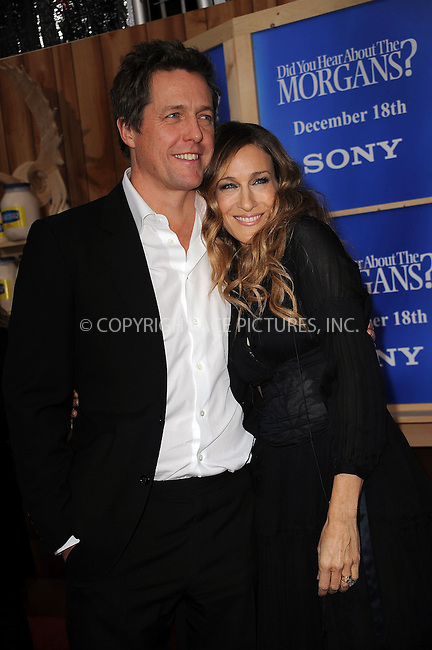 WWW.ACEPIXS.COM . . . . . ....December 14 2009, New York City....Actors Hugh Grant and Sarah Jessica Parker arriving at the Premiere of 'Did you here about the Morgans?' at the Ziegfeld Theatre on December 14 2009 in New York City....Please byline: KRISTIN CALLAHAN - ACEPIXS.COM.. . . . . . ..Ace Pictures, Inc:  ..(212) 243-8787 or (646) 679 0430..e-mail: picturedesk@acepixs.com..web: http://www.acepixs.com