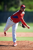 Philadelphia Phillies pitcher Victor Arano (46) during an Instructional League game against the Toronto Blue Jays on October 1, 2016 at the Carpenter Complex in Clearwater, Florida.  (Mike Janes/Four Seam Images)