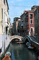 Venice:  Walk to San Marco--2.  Ponte Del Mondo Novo.  Phoro '83.