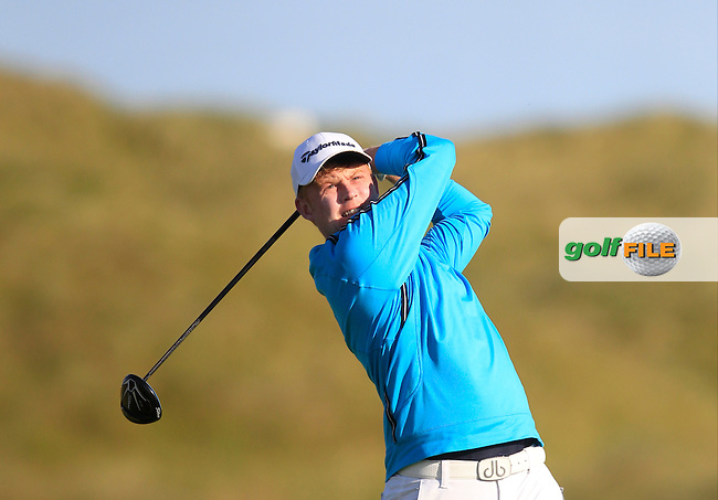 Eanna Griffin (Waterford) on the 2nd tee during Matchplay Round 3 of the South of Ireland Amateur Open Championship at LaHinch Golf Club on Saturday 25th July 2015.<br /> Picture:  Golffile | TJ Caffrey