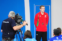 Wales' Jack Thomas on the podium after taking the bronze medal in the men's para-sport 200m freestyle S14 final<br /> <br /> Photographer Chris Vaughan/CameraSport<br /> <br /> 20th Commonwealth Games - Day 3 - Saturday 26th July 2014 - Swimming - Tollcross International Swimming Centre - Glasgow - UK<br /> <br /> © CameraSport - 43 Linden Ave. Countesthorpe. Leicester. England. LE8 5PG - Tel: +44 (0) 116 277 4147 - admin@camerasport.com - www.camerasport.com